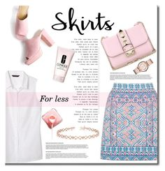 """""""Skirts"""" by mslewis6 ❤ liked on Polyvore featuring Oasis, Banana Republic, Valentino, Clinique, Marc Jacobs and Allurez"""