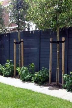 Backyard Privacy, Backyard Fences, Garden Fencing, Front Yard Landscaping, Garden Paths, Landscaping Ideas, Backyard Landscaping Privacy, Landscaping Small Backyards, Fenced In Backyard Ideas