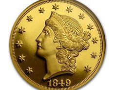 """Check out new work on my @Behance portfolio: """"1850's U.S. $20 Gold """"Liberty Head"""" Double Eagle"""" http://on.be.net/1OhUNeX"""
