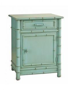 The Hampton's Furniture Collection, Brentwood Nightstand, Robin's Egg Blue
