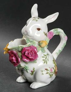 Creamer Figurine in the Old Country Roses pattern by Royal Albert China