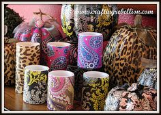 99 cent store flameless candles + decorative napkins + mod podge = great looking decor and fun gifts!