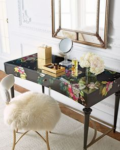 This desk is amazing! So expensive though. A gal can dream.