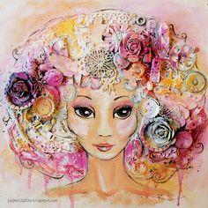 Pink fairy - Mixed Media Place - Paperiliitin