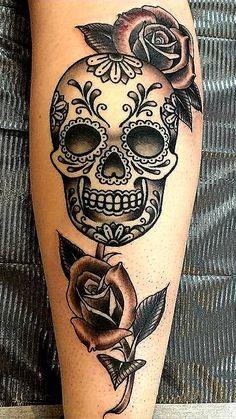 Tatoo que je veux mexican skull tattoos, skull sleeve tattoos, sugar skull tattoos, Mexican Skull Tattoos, Skull Sleeve Tattoos, Leg Tattoos, Body Art Tattoos, Skull Candy Tattoo, Sugar Skull Sleeve, Tattos, Candy Skulls, Feminine Skull Tattoos