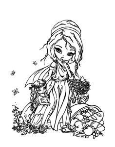 Demeter and young Persephone by JadeDragonne on deviantART
