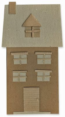 Haunted cardboard house - Art Projects for Kids
