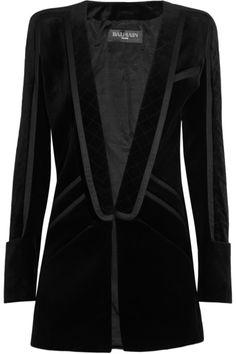 Balmain Quilted velvet smoking jacket