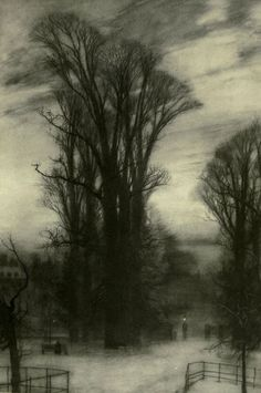 KENSINGTON GARDENS.    William Hyde    London impressions: etchings and pictures in photogravure (1898)