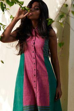 Linen Shirt Dress, Linen Dresses, Cotton Dresses, Indian Dresses, Indian Outfits, Indian Clothes, Peter Pan Dress, Girls Phone Numbers, Button Down Dress