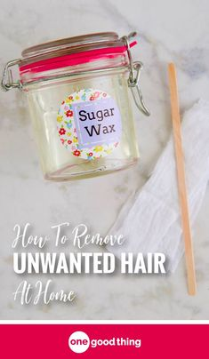You don't need to spend a lot on hair removal treatments to get rid of unwanted hair. Learn how easy it is to make and use sugar wax at home! #hairremoval #diybeauty #beautytips #naturalremedies #diyhairremoval #homemadesugarwax