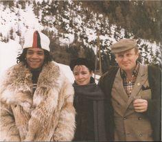 christiesauctions: Jean-Michel Basquiat, Brooke Bartlett and Bruno Bischofberger in Saint Mortiz, 1982. (Photo via Christina Bischofberger)...