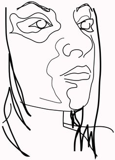 Justin - Various thickness of lines used in this portrait