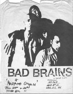 Bad Brains flyer ... about as early as it gets