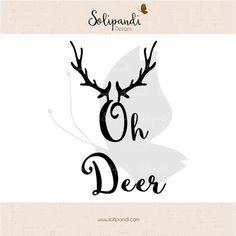 Weiteres - Oh Deer - Schneidedatei SVG/DXF // #101 - ein Designerstück von Solipandi bei DaWanda