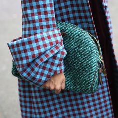 Love the cuffs and the turquoise check