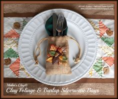 Creatively Crafty with Cindi Bisson - Clay Foliage & Burlap Silverware Bags - with Makin's Clay®
