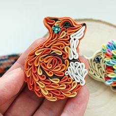 Orange Fox brooch, Cute Fox pin, Fox accessories, Curled up Fox, Fox jewelry, polymer clay Fox, Fox with flower, little Fox jewelry by Liskaflower on Etsy https://www.etsy.com/uk/listing/467863124/orange-fox-brooch-cute-fox-pin-fox