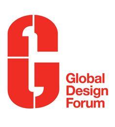 Global Design Forum logo (London Design Festival)- Pentagram