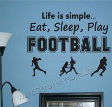 LIFE IS SIMPLE FOOTBALL Wall Decal