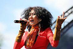 Kyrgyz singer Kanykei.