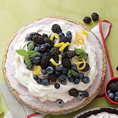 Parlor-Perfect Ice-Cream Cakes and Pies   Blueberry-Cheesecake Ice-Cream Pie   SouthernLiving.com