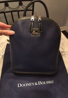 Dooney & Bourke Rare All Weather Leather Backpack Satchel Tote Shoulder Bag #DooneyBourke #BackpackStyle