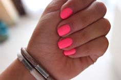 neon pink nails...this is how I'm going to welcome spring.