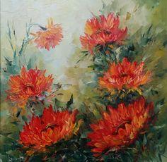 Cu galben, portocaliu, orange, arămiu, ... ca de toamnă târzie, foarte târzie. A venit și frigul adevărat, tot ce viețuiește pe afară e pus serios la încercare dar florile din tablouri rămân mereu frumoase și pline de viață. Painting, Art, Art Background, Painting Art, Kunst, Paintings, Performing Arts, Painted Canvas, Drawings