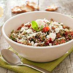 Goat Cheese Lentil and Couscous Salad - Quick Lunch Recipes to Take to Work - Shape Magazine