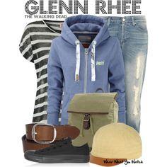 """""""Glenn Rhee (The Walking Dead)"""" by wearwhatyouwatch on Polyvore"""