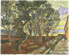 Vincent van Gogh Garden of Saint-Paul Hospital, The Painting