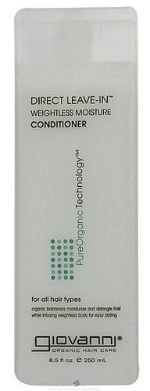 Giovanni Direct Leave In Weightless Moisture Conditioner  (CG Friendly) (Has Protein: The 7 to last ingredient is Soybean Protein)
