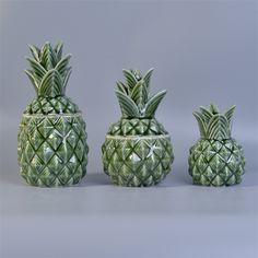 ceramic pineapple candle jar