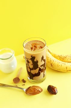 Creamy Banana Peanut Butter Chocolate Shake