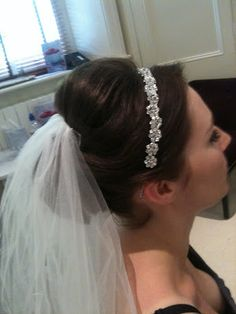 Hair with veil and tiara