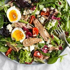 🍴Rychlý tuňákový salát recept – rychle, zdravě a jednoduše 🍴 Jimezdrave.cz Cobb Salad