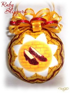 Wizard of Oz -Ruby SlippersUnique Handmade Keepsake Quilted Ornament on Etsy, $20.00