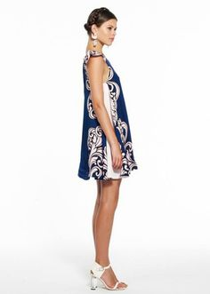 Alice McAll - Side view of blue & white dress..so cute!