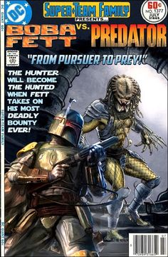 Boba Fett vs. Predator Star Wars Crosses over with other franchises? Its all detailed in the latest Super Blog Team Up 8 Visit the link below to be a part of this incredible event! Visit below  http://betweenthepagesblog.typepad.com/between-the-pages-blog/2016/05/star-wars-versus.html