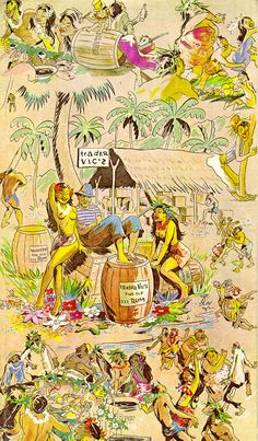 Trader Vic's  1986 (If you order a pina colada, make sure your hair is perfect.)