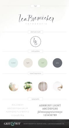 Lea Bremicker Photography Brand Expression // Grit & Wit