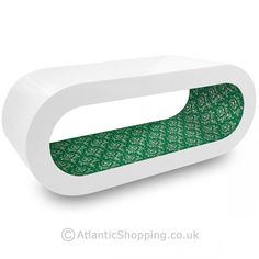 White Orbit Coffee Table Green Pattern Inner - Atlantic Shopping