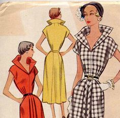 Vintage 1950s McCall 8108 Dramatic Stand Up by PrettyPatternShop, $34.95