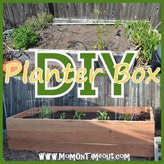 Easy to follow DIY Garden Planter Box Tutorial.