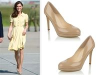 My favorite nude heel, L.K. Bennett's Sledge shoe, on one of my favorite fashion icons!