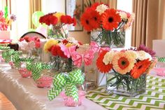 Colorful Flower Themed Birthday Party - Bella Paris Designs