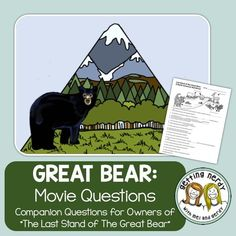 """Ecosystem Movie Questions - Last Stand of the Great Bear Rainforest + Digital Lesson What's your ecological """"spirit"""" animal? If you said bear, then you should totally check out our movie question sheet that goes along with the ecology documentary about the Great Bear - a North American temperate rainforest home to grizzly, swimming wolves, salmon, and the elusive """"spirit"""" bear. Includes DIGITAL GOOGLE CLASSROOM links!"""