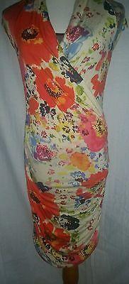 Rachel by Rachel Roy 100% Modal Floral L Stretch Dress