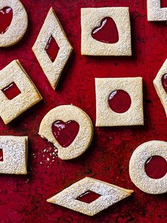 This posh Jammie Dodger recipe gives a childhood favourite biscuit an update, it's our February issue cover and a really impressive tea time snack.